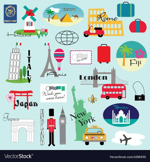 small resolution of travel clipart vector image