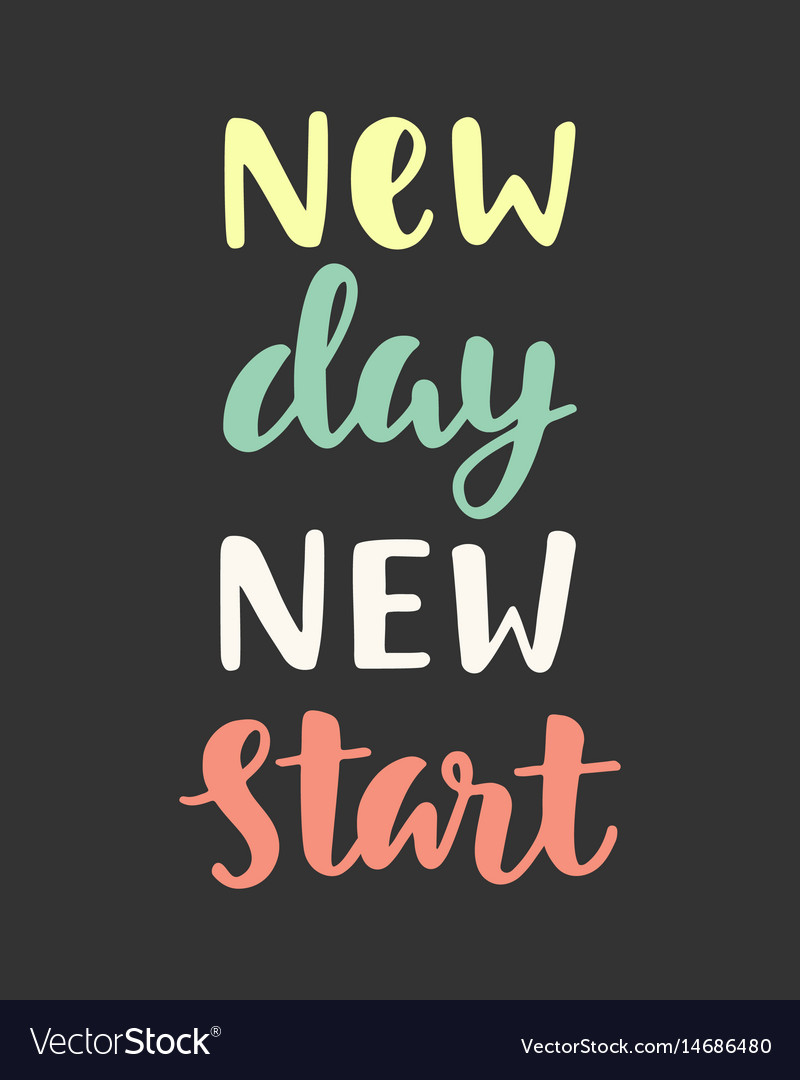 New Day Images : images, Start, Royalty, Vector, Image, VectorStock