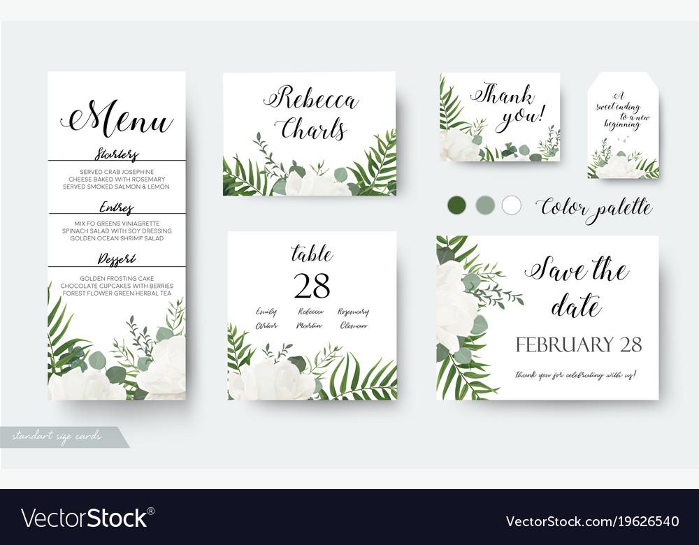wedding cards floral design