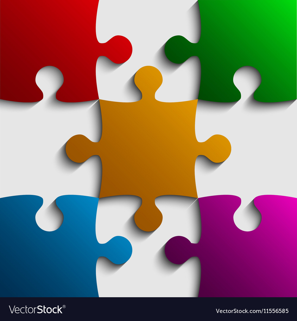 hight resolution of color puzzle clipart em eps vector