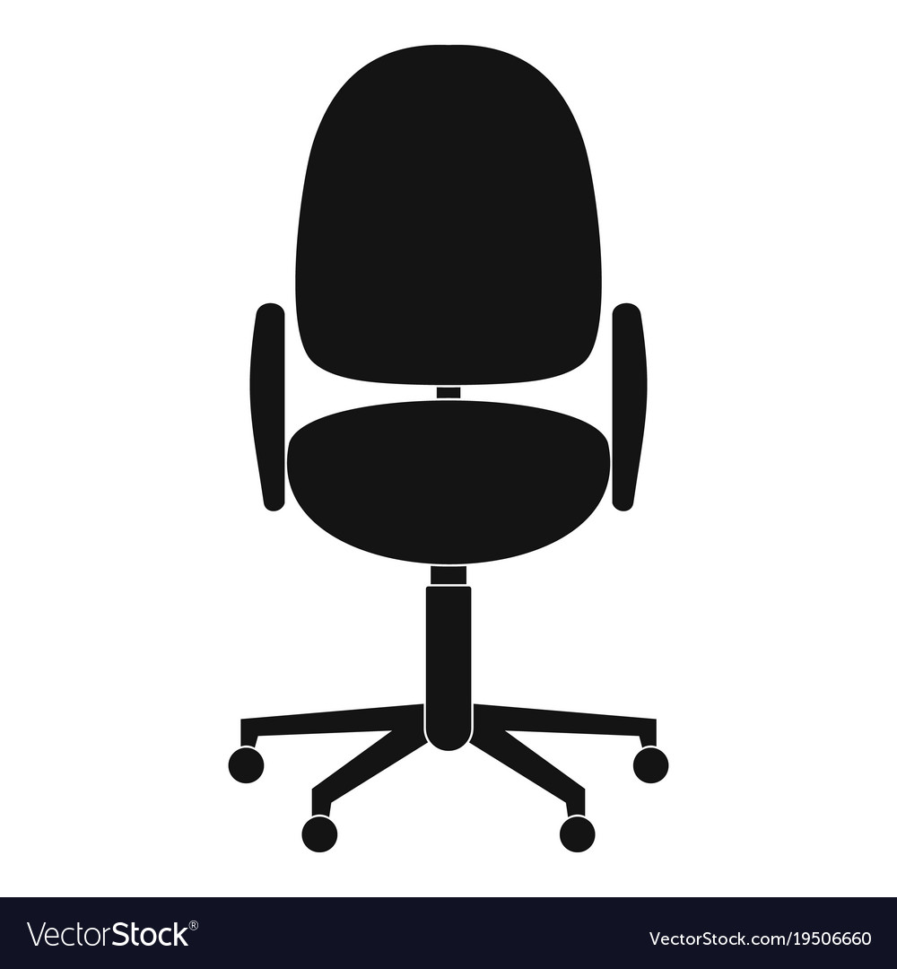 Work Chair Work Chair Icon Simple Style