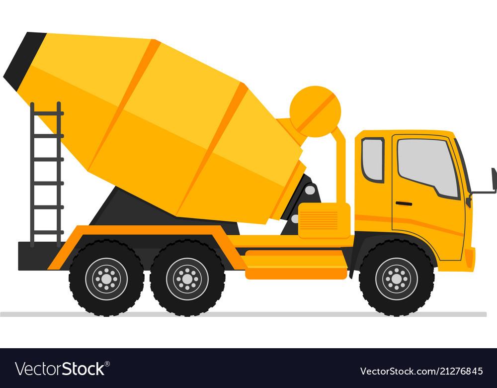 concrete truck icon mixer