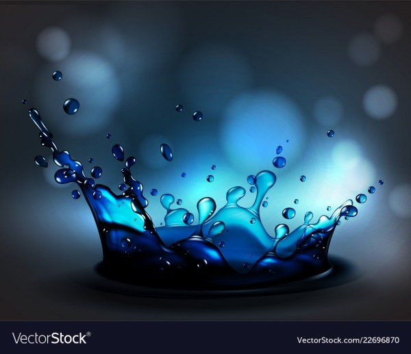 Abstract Background With Transparent Water Splash Vector