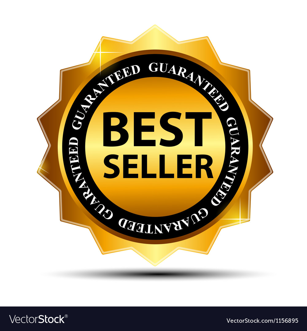 best seller label with