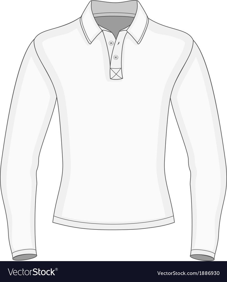 Long Sleeve Shirt Vector : sleeve, shirt, vector, Sleeve, Shirt, Royalty, Vector, Image