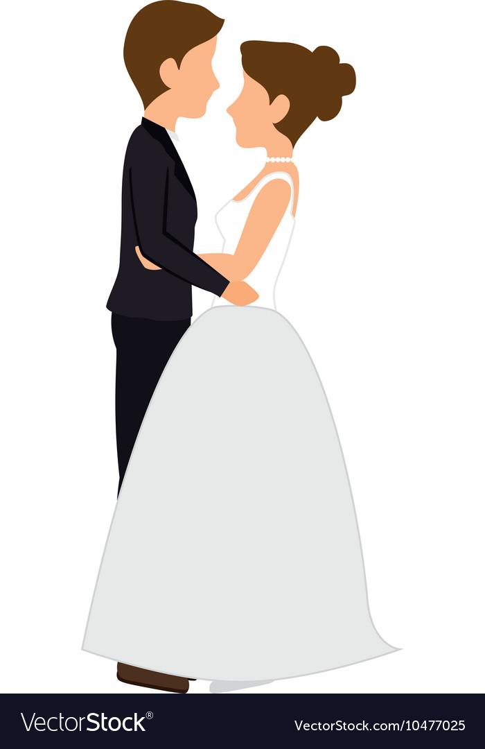 Wedding Cartoon Images : wedding, cartoon, images, Woman, Couple, Wedding, Cartoon, Royalty, Vector