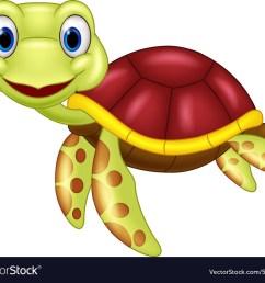 cartoon baby cute turtle vector image [ 1000 x 864 Pixel ]