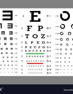 Eye test chart vision exam optometrist vector image also royalty free rh vectorstock
