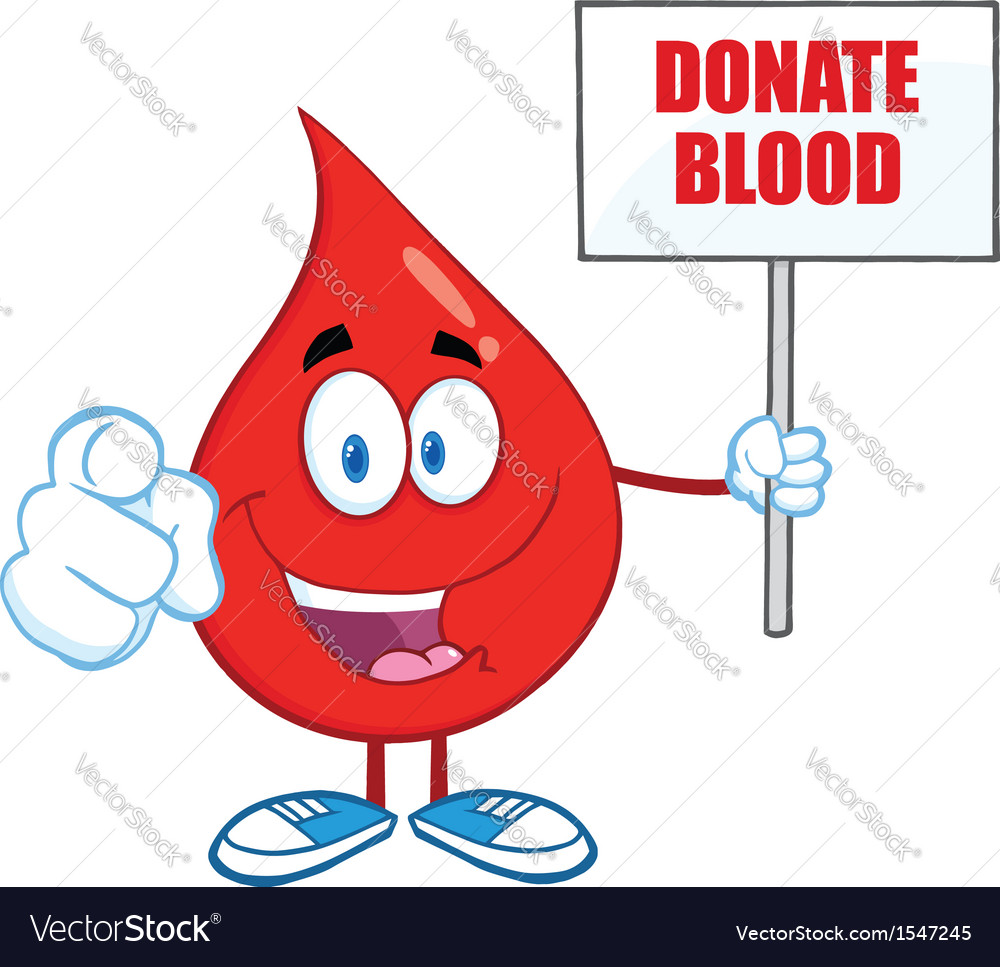 hight resolution of donate blood vector image