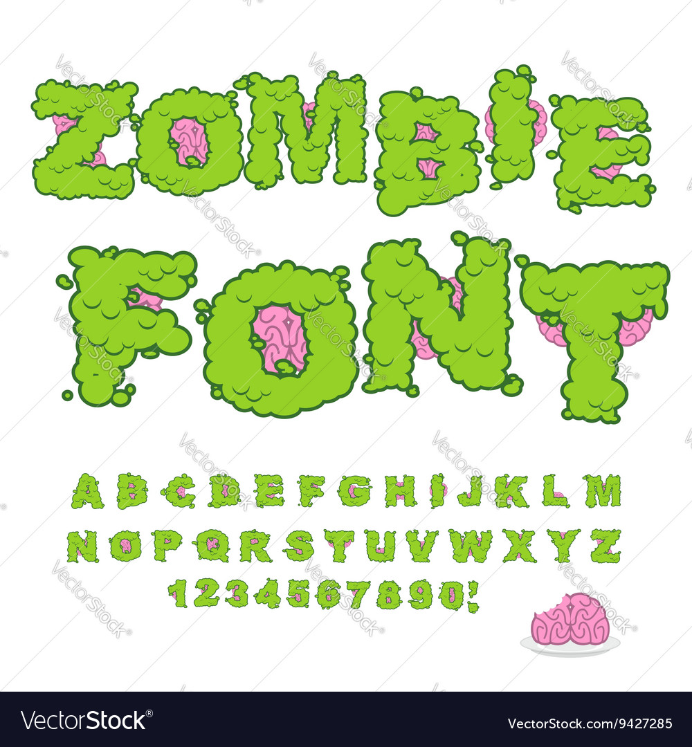 zombie font scary green