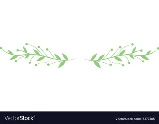 Rustic branches with fruits and leaves Royalty Free Vector