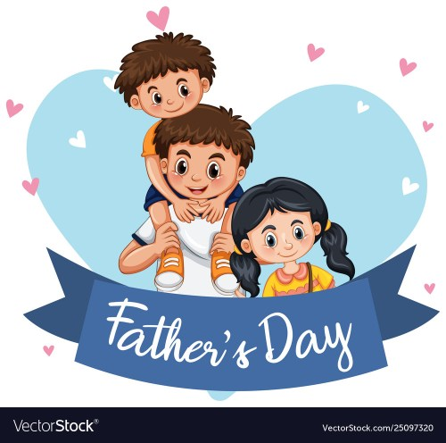 small resolution of a fathers day template vector image
