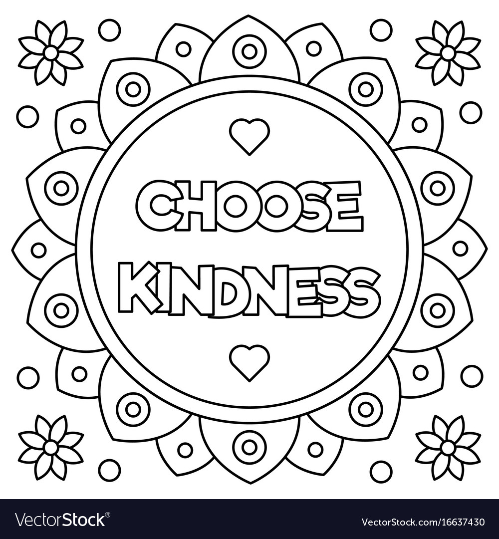 Kindness Coloring Pages Printable Coloring Pages – Cute766