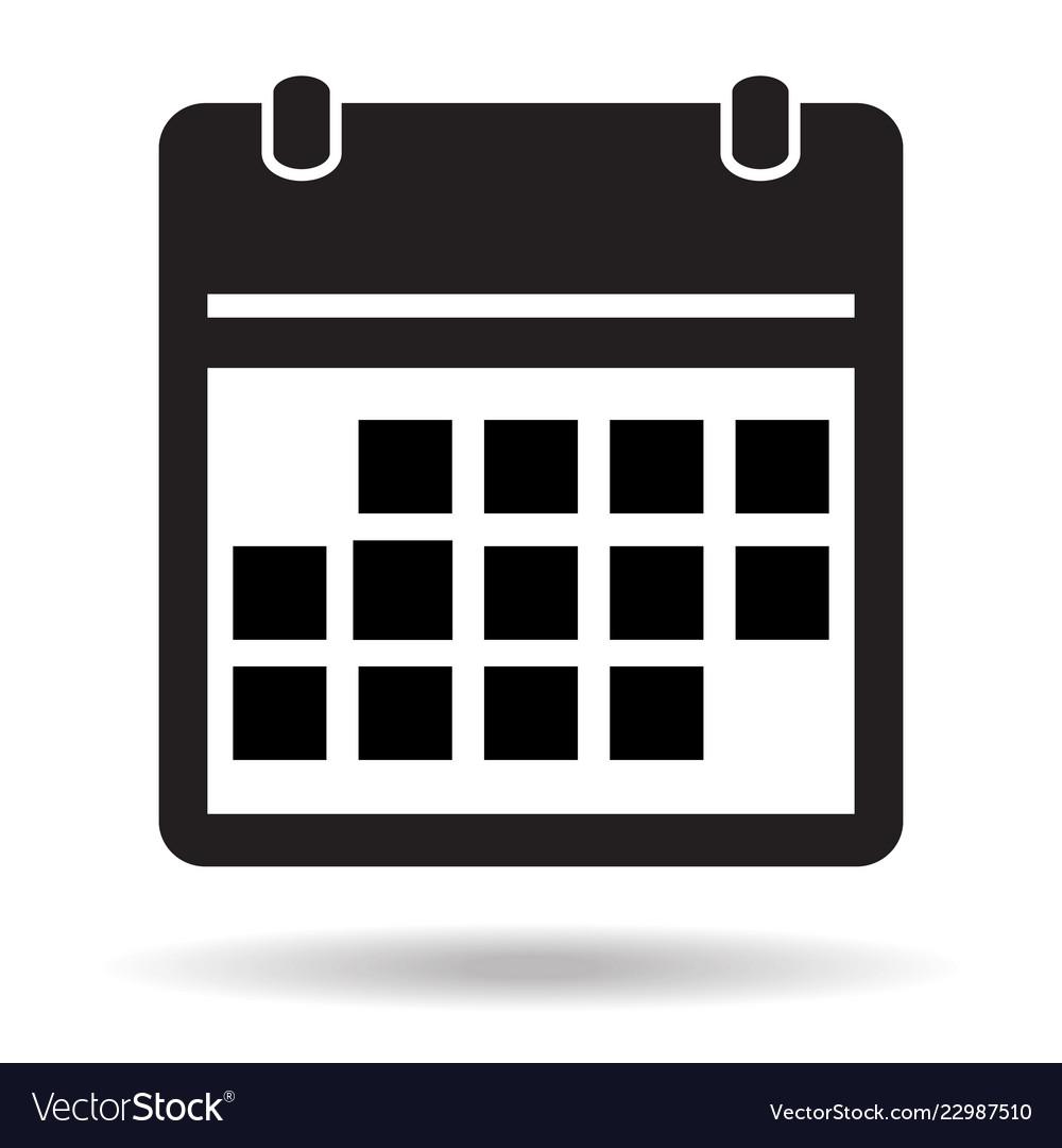 simple flat calendar page