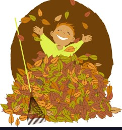 raking leaves vector image [ 904 x 1080 Pixel ]