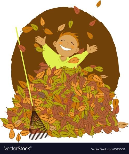 small resolution of raking leaves vector image