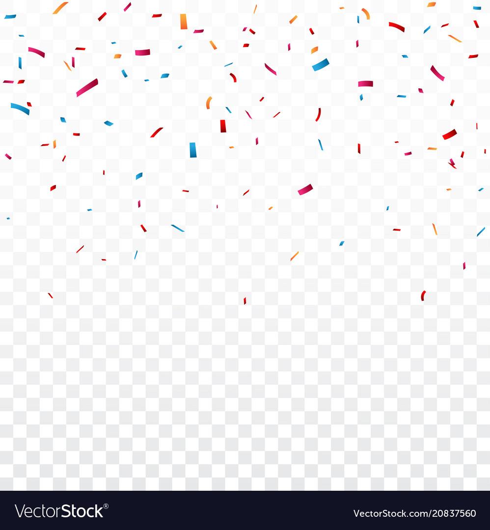 celebration with colorful confetti