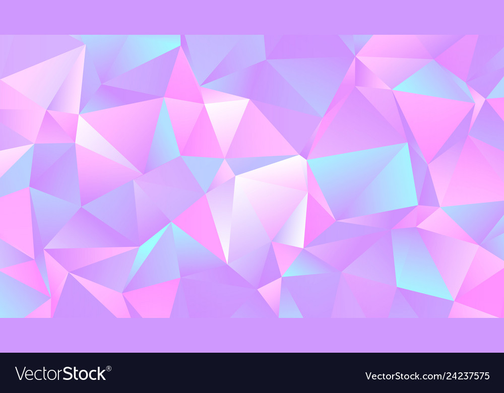 pastel colorful crystal low