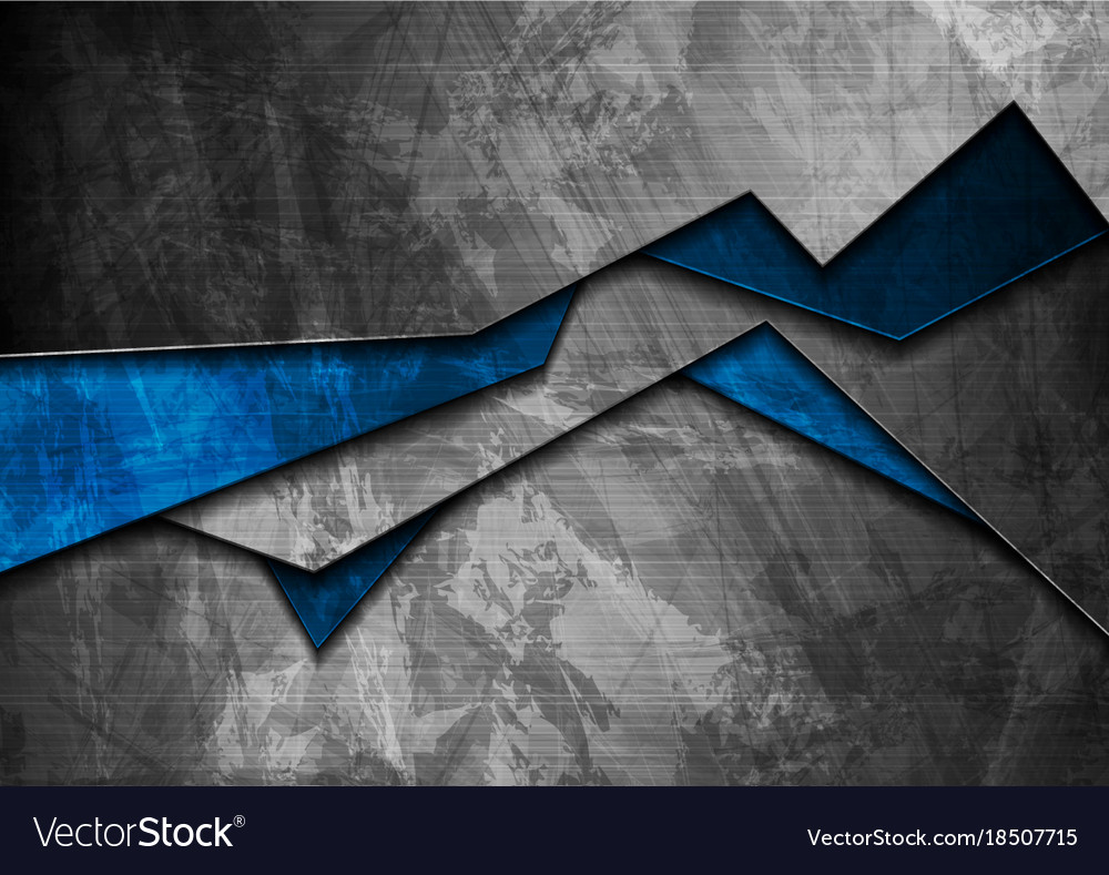 Grunge tech material blue and grey background Vector Image