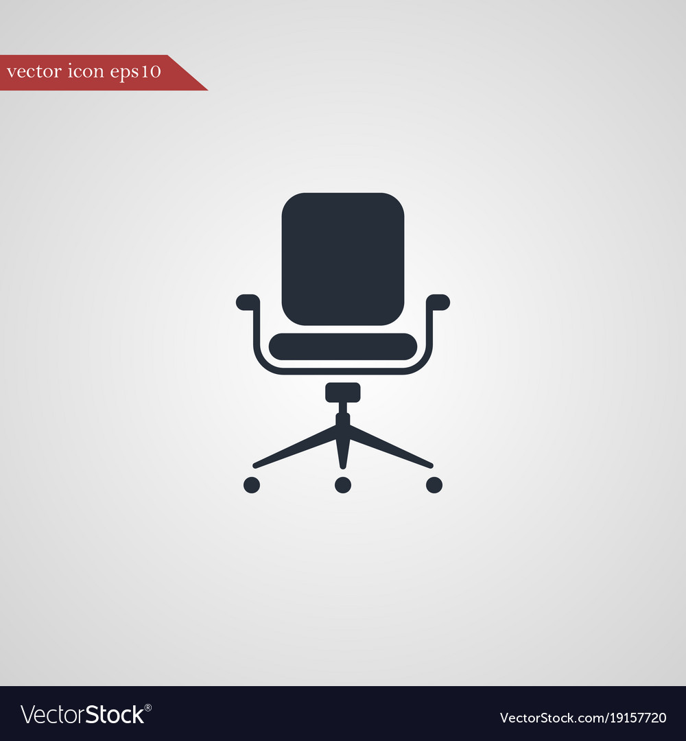 simple desk chair burlap covers for sale office icon royalty free vector image