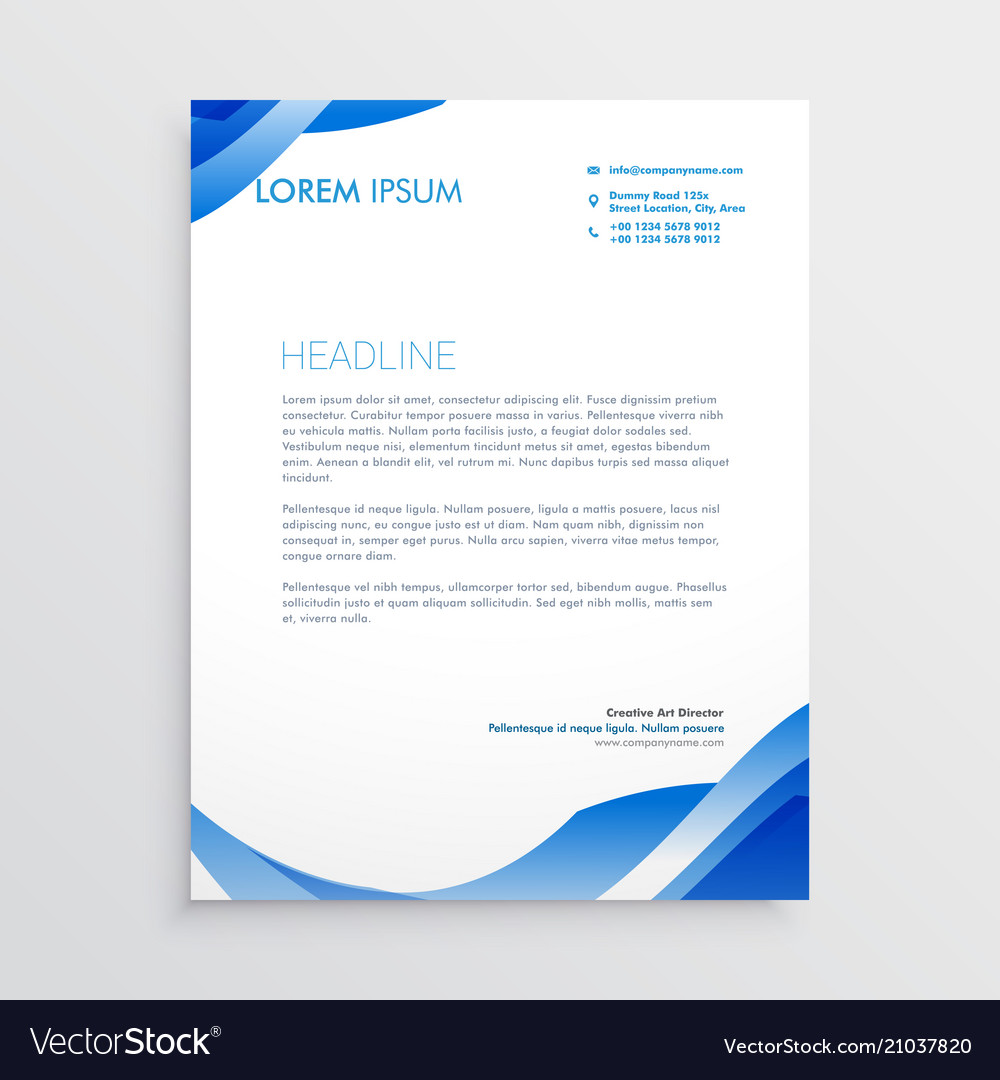 abstract blue business letterhead