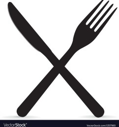 crossed fork and knife vector image [ 973 x 1080 Pixel ]