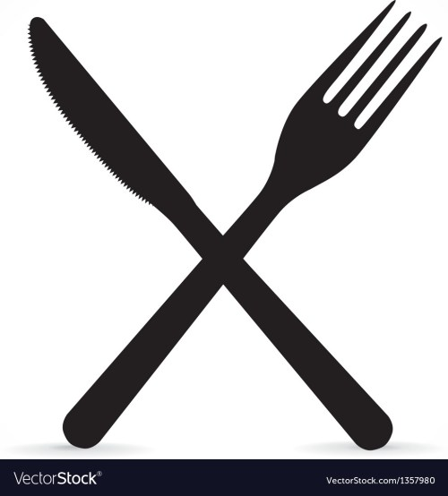 small resolution of crossed fork and knife vector image