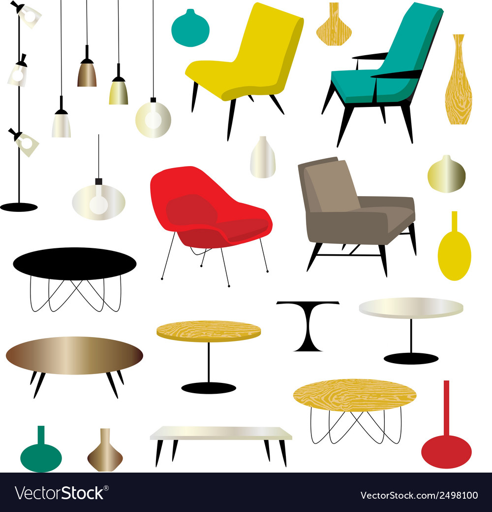 hight resolution of furniture clipart vector image
