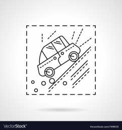 car accident in the mountains line icon vector image [ 1000 x 1080 Pixel ]