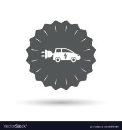 electric car sign icon hatchback symbol vector image [ 1000 x 1080 Pixel ]