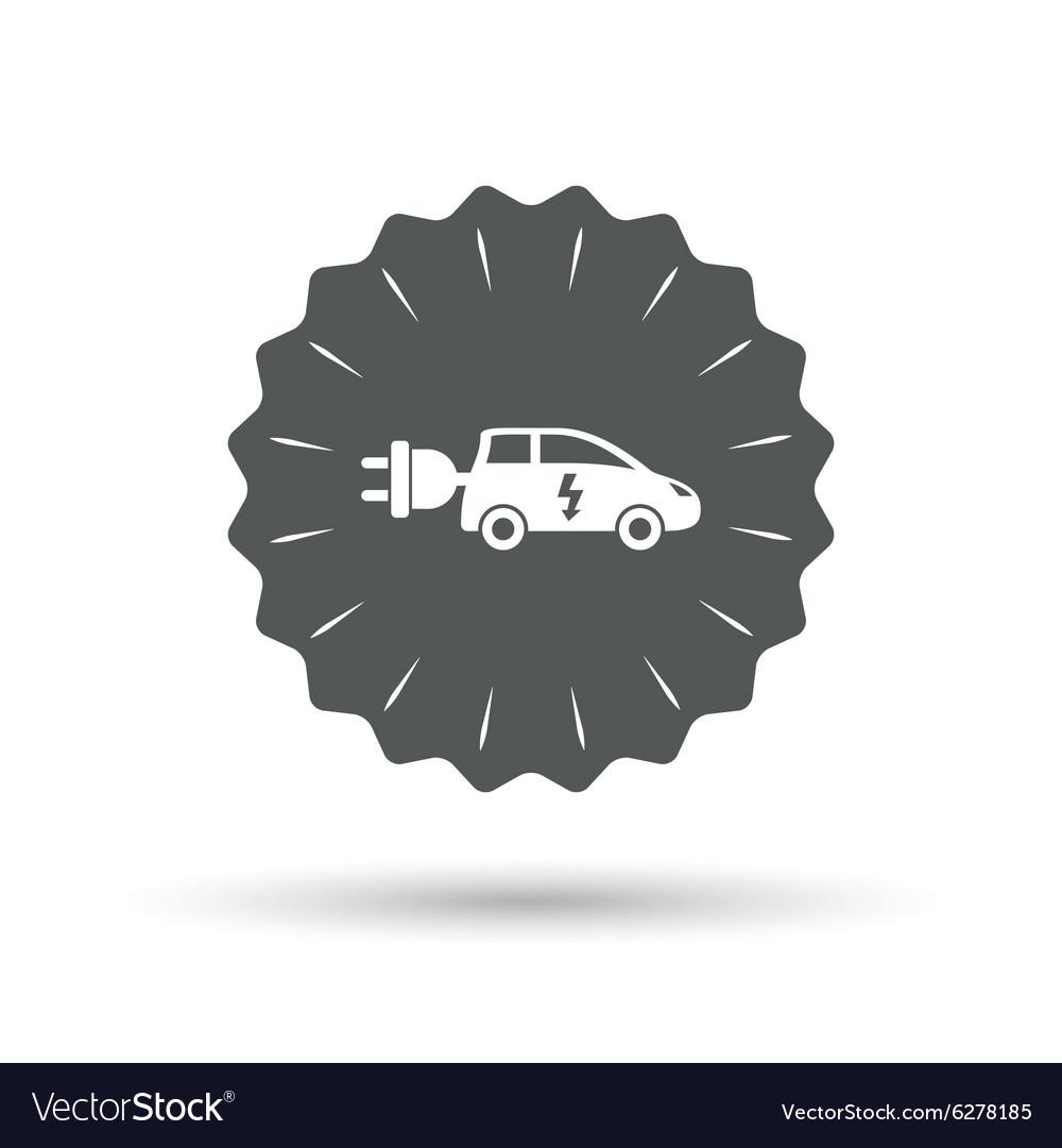 medium resolution of electric car sign icon hatchback symbol vector image