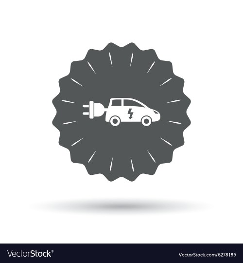 small resolution of electric car sign icon hatchback symbol vector image
