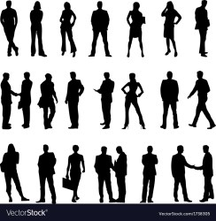 Business people silhouette Royalty Free Vector Image