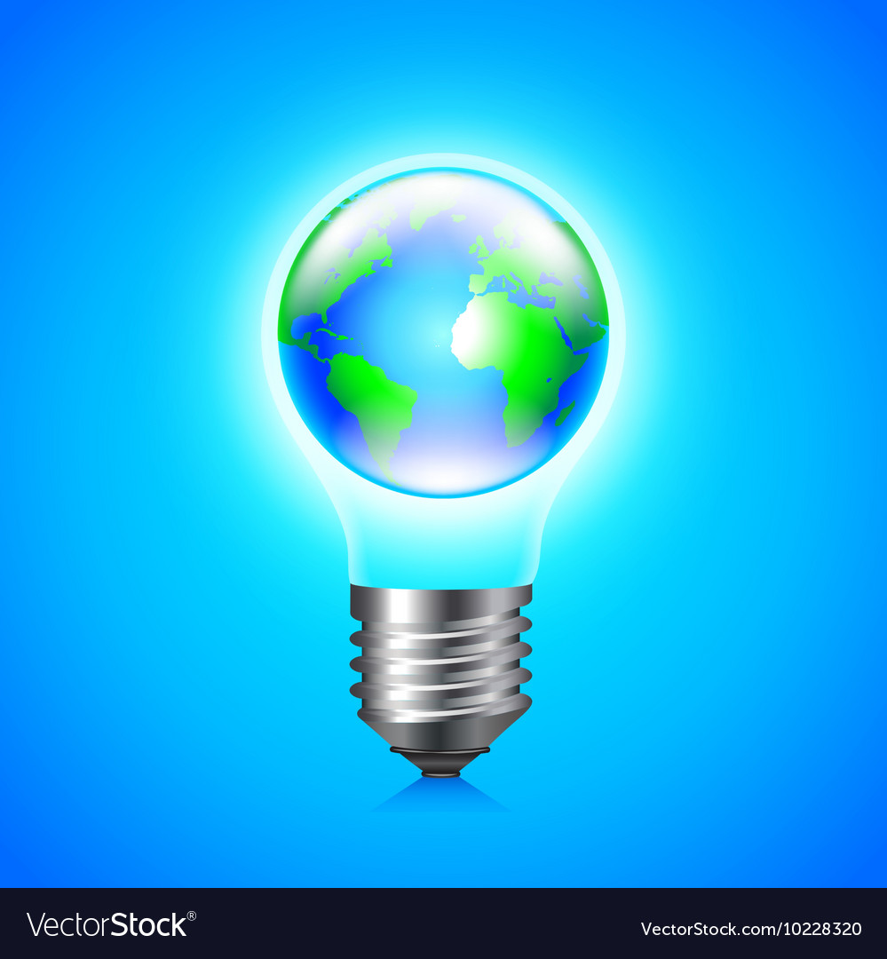 earth globe inside light