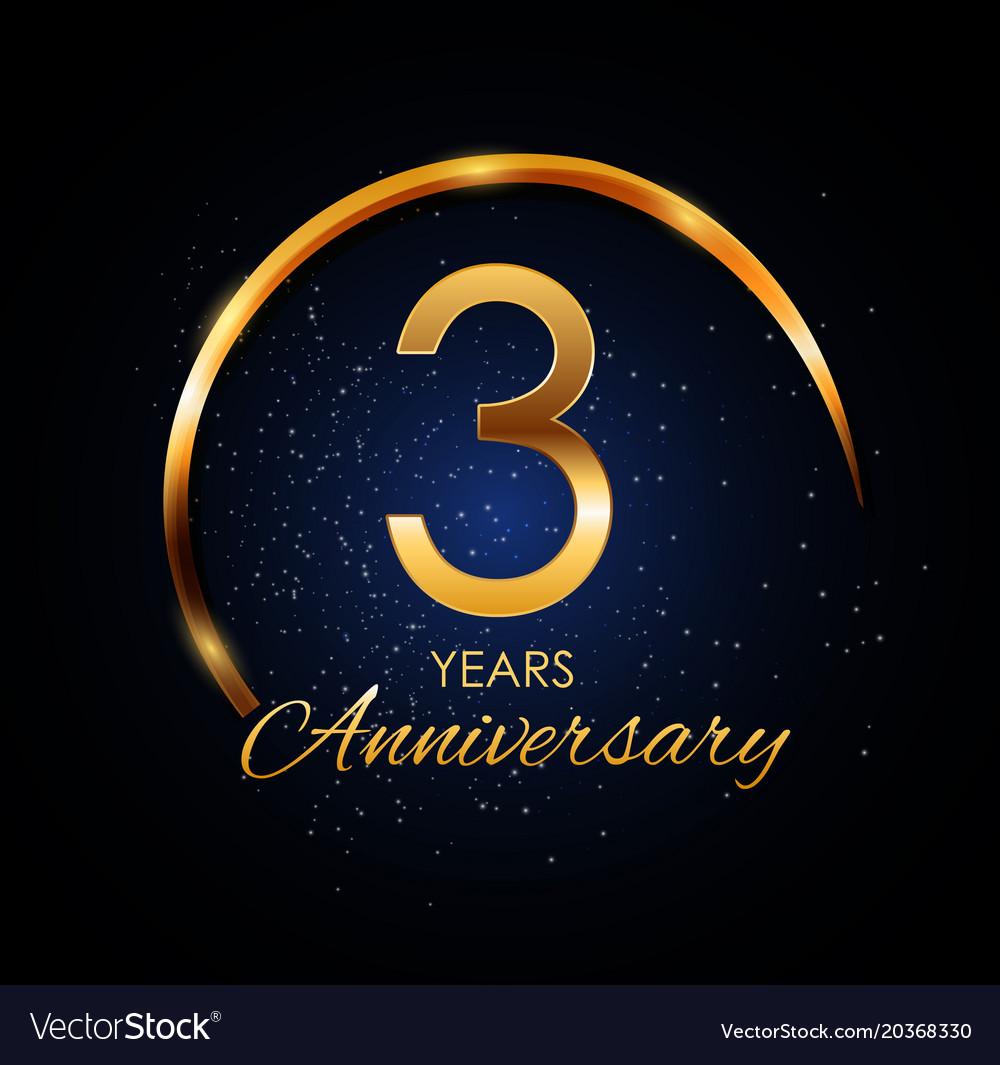 template logo 3 year