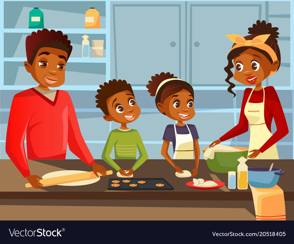 hight resolution of african american family clipart