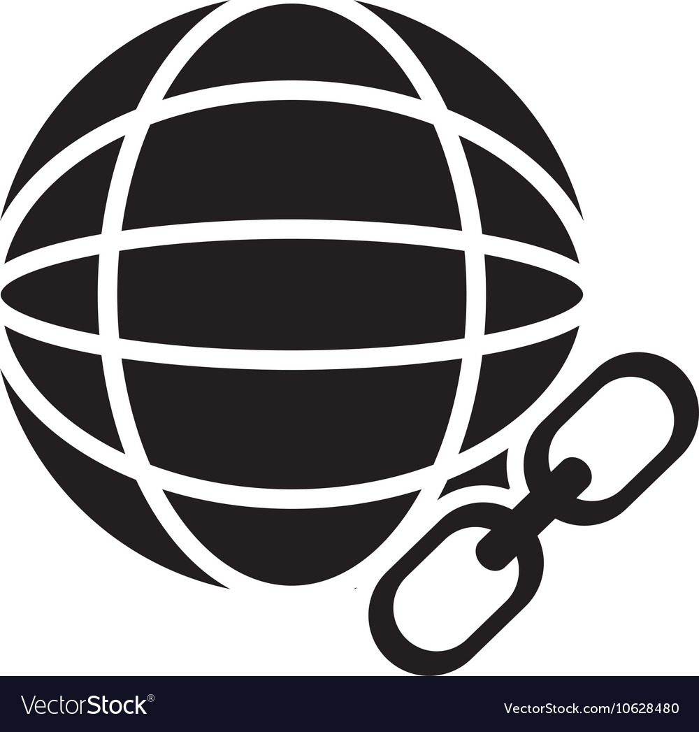 hight resolution of earth globe diagram and link icon vector image