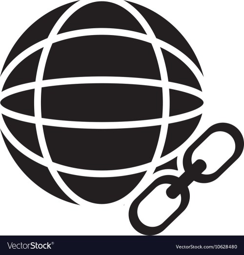small resolution of earth globe diagram and link icon vector image