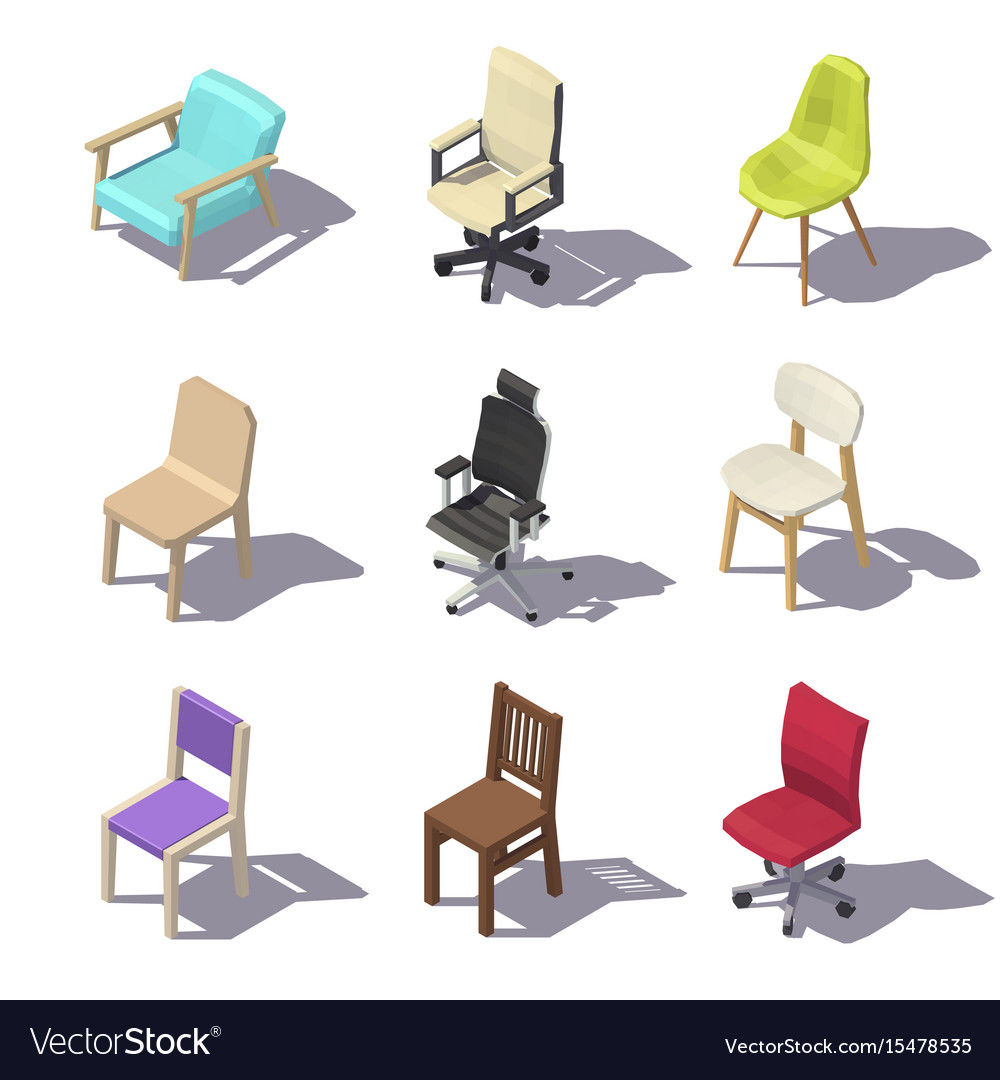 office chair vector home depot patio chairs isometric royalty free image