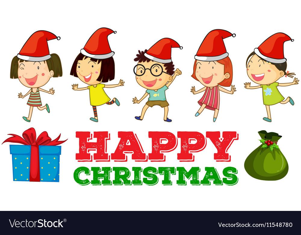 christmas theme with children
