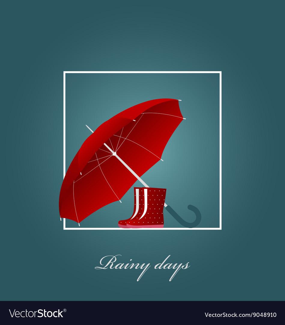 red umbrella and bright