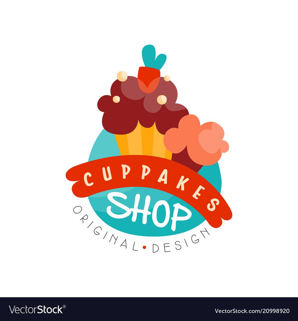 Cupcake Shop Logo Design Template Bakery And Vector Image