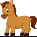 Cute Horse Cartoon Royalty Free Vector Image Vectorstock