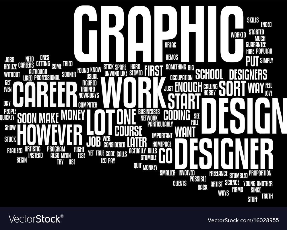 graphic designer career text