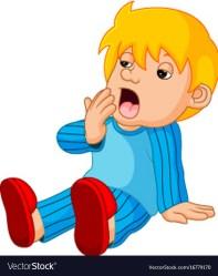 sleepy cartoon boy vector cute vectorstock royalty