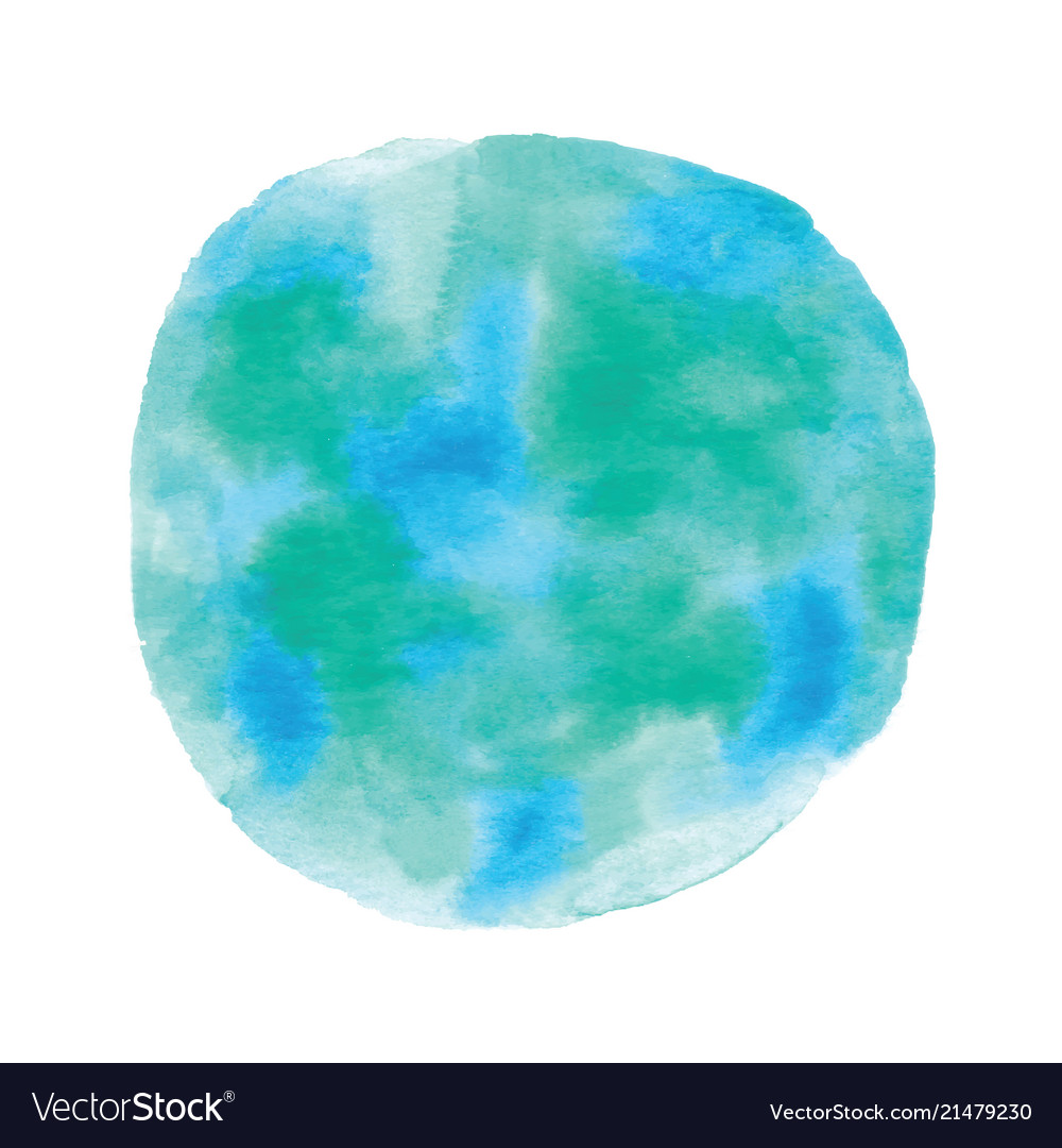 globe painted with watercolor