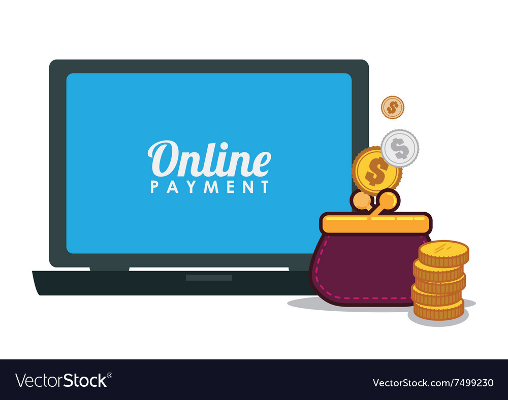Money Bank And Online Payment Royalty Free Vector Image