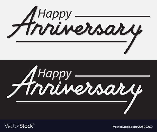 Happy Anniversary Lettering Design