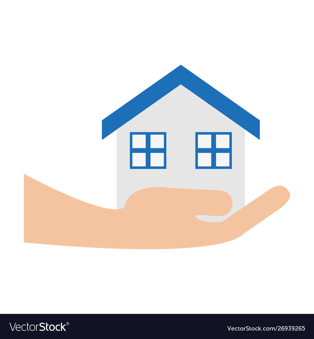 hand holding real estate
