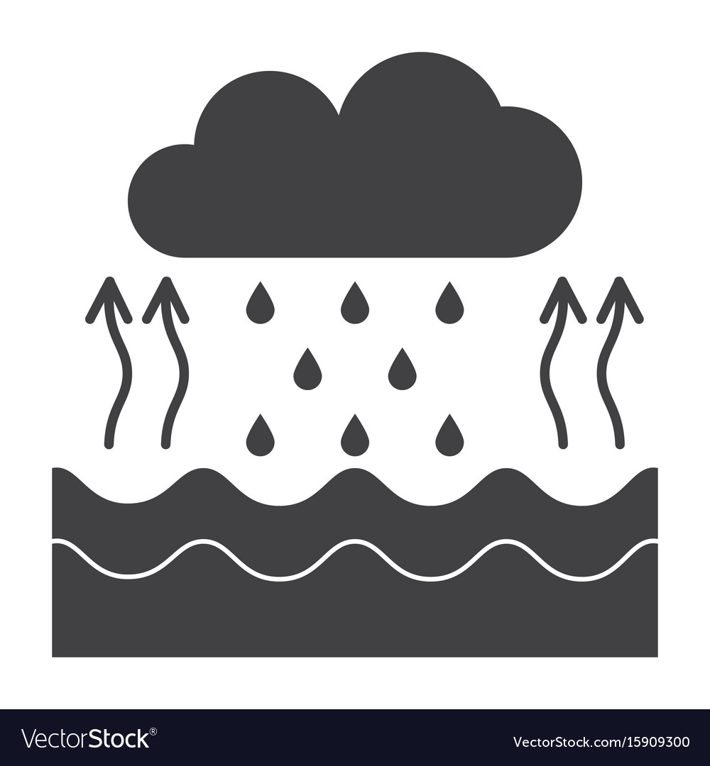 hight resolution of water cycle diagram vector image